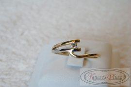 Arany gyűrű köves 56-os méret különleges modern fazon