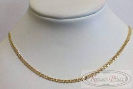 Arany nyaklánc mona lisa fazonban 44,5 cm hosszú