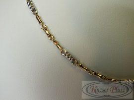 Arany nyaklánc két színű 55 cm-es