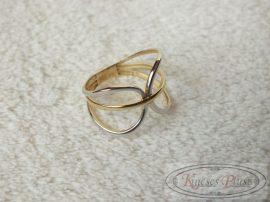 Arany gyűrű fehér és sárga arany 49-es méret