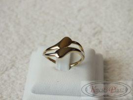Arany gyűrű fehér és sárga arany 51-es méret
