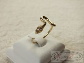 Arany gyűrű, kigyós fazon állítható 56-59ig