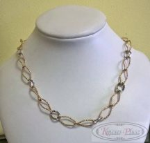 Arany nyaklánc fehér-sárga arany 45 cm hosszú