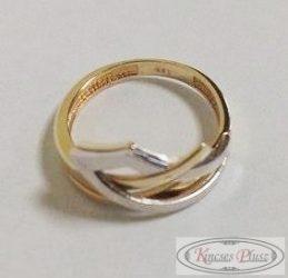 Arany bicolor gyűrű 51-es méretben