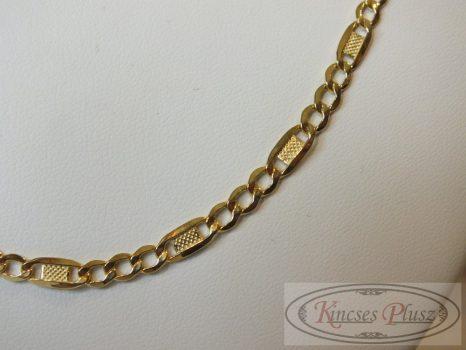 Arany nyaklánc 50 cm hosszú szép klasszikus fazon