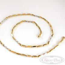 Arany nyaklánc fehér és sárga arany 55 cm-es