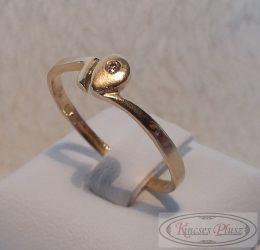 arany gyűrű filigrán, 57-es méret