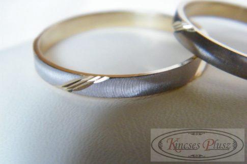 Arany karikagyűrű kétszínű