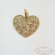 Arany medál áttört szív