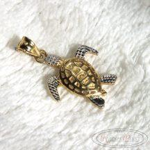 Teknős arany medál kétszínű