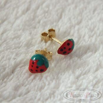 Arany eperkés fülbevaló színes