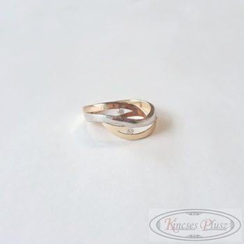 Arany gyűrű 61' 3színű