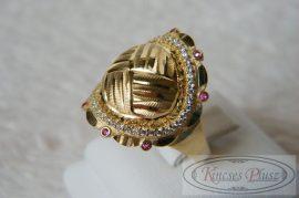 Arany gyűrű köves 60-as méret