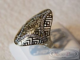 Arany gyűrű apró cirkónia kövekkel 57-es méret