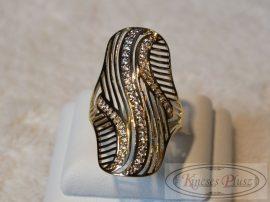 Arany gyűrű apró cirkónia köves 56-os méret
