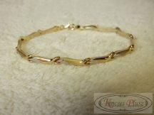 Arany stiftes két színű karlánc 18 és fél cm-es
