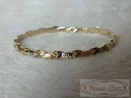 Arany karlánc stiftes 19 cm hosszú
