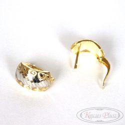 Francia kapcsos kétszínű arany fülbevaló