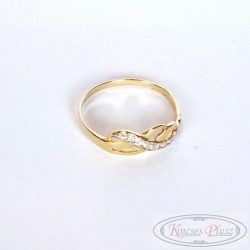 Köves arany gyűrű 56 os méret