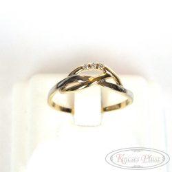 köves arany gyűrű kétszínű 60-as méret