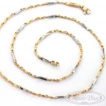 Arany nyaklánc kétszínű 55cm-es