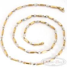 Kétszínű arany nyaklánc 60 cm