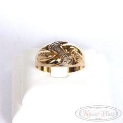 Arany gyűrű pici fehérarannyal