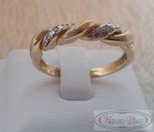 arany gyűrű köves tekert, 55-ös méret