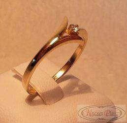 arany gyűrű egyköves, 58,5-es méret